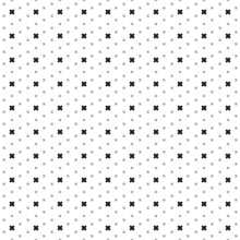 Square Seamless Background Pattern From Black Adhesive Plaster Symbols Are Different Sizes And Opacity. The Pattern Is Evenly Filled. Vector Illustration On White Background