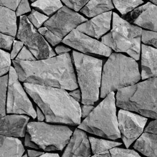 Seamless Sandstone Texture. Black And White Stone Wall Background