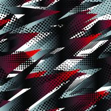 Patrón Abstracto Geométrico Transparente. Vector Gráfico. Grunge, Patrón De Textura De Neón.