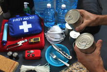 Disaster Ready Means Preparing A Disaster Kit That Can Be Contained In A Go Bag.These Items Should Include A First Aid Kit,food,water,flashlight,radio,sleeping Bag.Items That Will Help You.