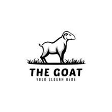 Template Goat Logo Design,modern Goat Logo,farm Field Logo,mountain Goat Logo,animal Logo,icon Vector Emblems