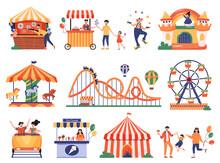 Amusement Park Icons Collection