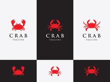 Vector Design Set Template, Emblem, Design Concept, Crab With Big Claws.