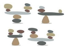 Vector Zen Rock Stones Stack In Balance