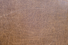 Brown Antique Fake Leather Texture Background, Backdrop