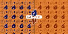 Fondo De Pareja De Gatos Con Dos Versiones