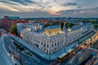 Łódź, Poland- view of the Poznański Palace.