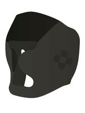 Black Boxing Helmet. Vector Illustration
