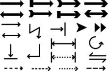 シンプルいろいろ矢印セット黒