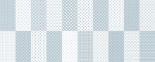 Big Set Of Seamless Patterns. Decorative Patterns In Blue And White. Design For Printing On Textiles, Wallpapers, Backgrounds. The Tiles Can Be Combined With Each Other.