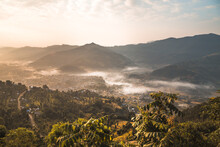 Dawn Mist In Pokhara Countryside, Nepal