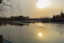 中国 北京 北海公園の美しい風景