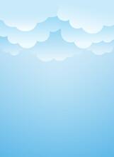 Clouds Background. Vector Illustration. Sky Wallpaper. Background