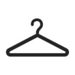 Hanger vector icon.Black vector icon isolated on white background hanger.