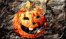 The Halloween Pumpkin Covered In Smoke