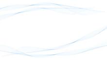背景素材 澄んだそよ風の様な癒される青い滑らかな曲線のフレームデザイン ベクター  Backgrounds. Soothing Blue Smooth Curved Frame Design Like A Clear Breeze. Vector