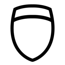 Icon Template Data Protection Shield For The Logo