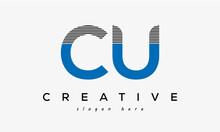 CU Creative Letter Logo Design Victor