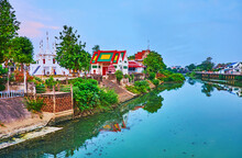 The Wat Ko Walukaram Temple On Wang River, Lampang, Thailand