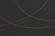 Black Washi Paper Texture With Elegant Gold Leaf Thread Pattern. Abstract Graceful Japanese Style Background.