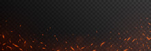 Vector Fiery Sparks On An Isolated Transparent Background. Sparks Png, Fire Png, Fiery Particles.