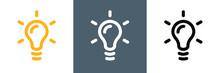 Glühbirne Lineart Vektor Logo