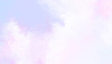 Pastel Lavender Violet Pink White Watercolor Cloudy Painted Background  Beautiful Soft Heaven Spectrum Sky Design, Blotches And Blobs Of Paint And Watercolor Baby Paper Foggy Texture