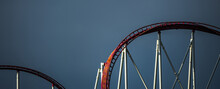 Roller Coaster During A Cloudy Weather