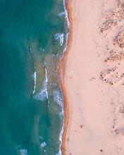 Bird's Eye View Of A Blue Beach