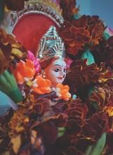 Close-up Of Goddess Idol