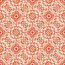 Seamless Pattern With Retro Folk Motifs
