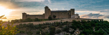Castel Morgnano, Interior And Panoramic View Of The Castle In The Historic Center Of Spoleto