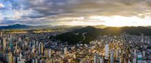 Panoramic Aerial View Of Balneário Camboriú Cityscape During S