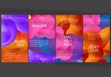 Social Media Post Layout with Futuristic Wavy Gradient Shape