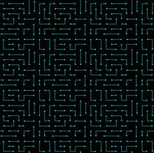 High Tech Seamless Vector Texture. Circuit Board Pattern In Modern Technology Colors