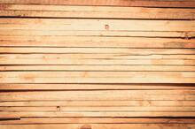 Full Frame Shot Of Brown Old Textured Wooden Background.
