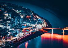 한국 단양 야경