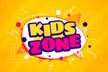 Kids Fun Zone Cartoon Style Template