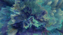 Abstract 3D Background Of Fractal Turbulence, Suggestive Of Underwater Coral. Also Available As An Animation - Search For 230525194 In Videos. Pixel Sorting. Glitch Art.