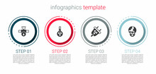 Set Industry Pipe And Valve, Meteorology Thermometer, Radiation Electrical Plug And Planet Earth Radiation. Business Infographic Template. Vector