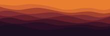 Sunrise Color Scheme Wave Pattern Vector Illustration For Wallpaper, Background, Web Banner, Backdrop, Digital Design And Design Template