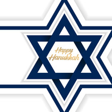 Happy Hanukkah. Background Vector. Jewish Holiday. Greeting Card For Your Friends.