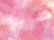 水彩のピンクグラデーション背景