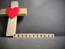 Freedom Concept - Forgiveness Text Background. Stock Photo.