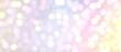 イルミネーション風背景)ボケライトの抽象イラストバナー 紫からオレンジへのグラデーション 幻想的