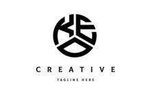 KEO Creative Circle Three Letter Logo
