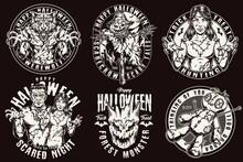 Happy Halloween Vintage Labels