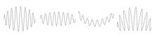 Wavy, Waving, Billowy Lines. Curve, Camber, Arc Effect Lines. Curl, Camber, Flex Effect Lines