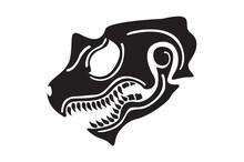 Cool Dragon Head Tattoo Tribal