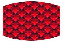 Red Diamond Theme Mask Design